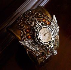 Steampunk wristwatch / Стимпанк: будущее из прошлого - Ярмарка Мастеров - ручная работа, handmade