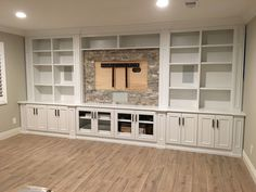 Trendy home renovation basement built ins - Modern Living Room Built Ins, Living Room Tv, Wall Cabinets Living Room, Living Room Hacks, Living Room Remodel, Built In Cabinets, Built In Shelves, Tv Cabinets, Built Ins With Tv