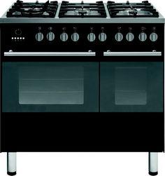 Strak antraciet fornuis van SMEG uitgevoerd met dubbele oven en 6-pits kookvlak Ovens, Kitchen Appliances, Diy Kitchen Appliances, Home Appliances, Stoves, Kitchen Gadgets, Oven