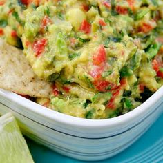 Roasted Garlic, Poblano and Red Pepper Guacamole