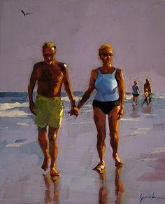 """Walk With Me"" - Original Fine Art for Sale - © Karin Jurick"