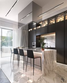 Kitchen countertop materials: pros and cons Modern Kitchen Design Cons Counterto Luxury Kitchens Kitchen Room Design, Luxury Kitchen Design, Best Kitchen Designs, Luxury Kitchens, Home Decor Kitchen, Rustic Kitchen, Interior Design Kitchen, Modern Interior Design, Home Design