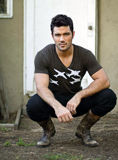 Brown t shirt for men. Planes - Aviation WWII bomber planes graphic - Perfect gift for Dad on Father's Day! Mode Masculine, Ryan Paevey, Perfect People, Raining Men, General Hospital, Fit S, Models, Gorgeous Men, V Neck T Shirt
