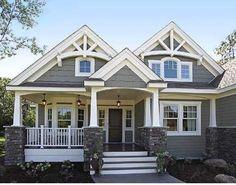 Best Ideas house exterior design dream homes craftsman style Design Exterior, Exterior House Colors, Exterior Paint, Gray Exterior, Siding Colors, Exterior Shutters, Bungalow Exterior, Craftsman Exterior Colors, Bungalow Homes