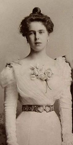 Princess Beatrice of Edinburgh. She was nicknamed 'Baby Bee'. The daughter of Prince Albert and his wife the Grand Duchess Marie of Russia, and sister to Victoria Melita. Grand-daughter of Queen Victoria and Albert and Tsar Alexander II.