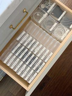 Cord Organization, Home Organization Hacks, Organizing Your Home, Kitchen Organization, Organising, Ways To Organize Your Room, Konmari, The Home Edit, Cord Storage