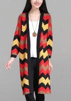 Buy Bohemian Graohic Knitted Long Cardigan   mysallyfashion.com ...