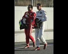 Massa and Schumacher