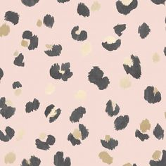 This nature inspired wallpaper puts a fun Scandinavian twist on the classic leopard print style. The spots are painted with a brush stroke effect and paired with metallic contrast, making this a gorgeous contemporary style living wallpaper. Grab your Book Wallpaper, Feature Wallpaper, Leopard Print Wallpaper, Pink Leopard Print, Free Wallpaper Samples, Amur Leopard, Tropical Wallpaper, Colorful Wallpaper, Pallets