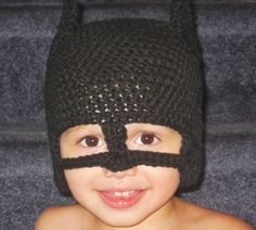 Batman Inspired hat with earflaps optional ties by megscutekidshop, $18.00