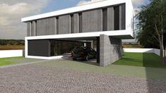 Projeto Rubi Portugal, Dream House Exterior, Modern Architecture, Beach House, Garage Doors, Villa, Building, Outdoor Decor, Projects