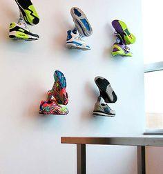 Sneaker Rack, Sneaker Storage, Shoe Storage, Shoe Shelves, Shoe Room, Shoe Wall, Boutique Interior, Shoe Store Design, Creative Shoes