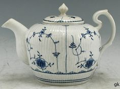Stunning Antique Weesp Porcelain Tea Pot Dutch 1764 1771 Blue White Traditional | eBay