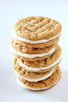 Peanut Butter Marshmallow Sandwiches