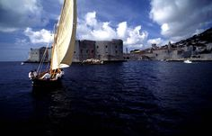 View of Dubrovnik City Walls from the sea #FriFotos #Croatia