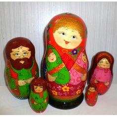 Twins Family #Babushka #russiandoll #matryoshka #dollsindolls #decor #traditional