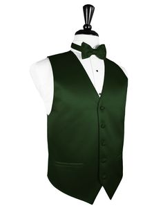 Hunter Green Tuxedo Vest | Premier Satin Fabric | without the bow tie this is the vest I want under the tuxes.