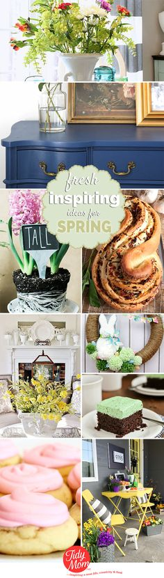 With spring just around the corner, now is the time to start looking for fresh inspiring spring ideas for projects, home decor, gardening, recipes and more.