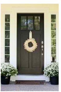 Black Craftsman front door.