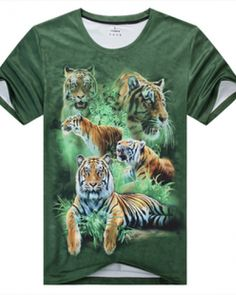3D Animal Tshirt  Manchurian Tiger Tiger T Shirt, 3d Fashion, Best Gifts, Tees, Mens Tops, Animals, T Shirts, Animales, Animaux