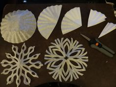 Snowflakes from coffee filters