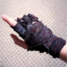 Mad Max Inspired Post-Apocalyptic Single Ragged Fingerless Wrap Glove (170 ZAR) ❤ liked on Polyvore featuring accessories, gloves and fingerless gloves