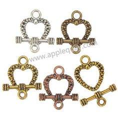 Zinc Alloy Heart Love OT Clasps,Plated,Cadmium And Lead Free,Various Color For Choice,Approx 19*16.5*2.5mm,Bar:8.5*20.5*3.5mm,Hole:Approx 2.5mm,Sold By Bags,No 002202