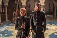 Jaime Lannister (Nikolaj Coster-Waldau) guards Lena Headey (Cersei Lannister) in Game Of Thrones Season 7 - Photo by Helen Sloan/HBO