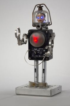 Barbie has never looked so high-tech. Tal Avitzur's 12-inch robo-doll also includes an old voltmeter, a gas filter, and blinking LEDs.
