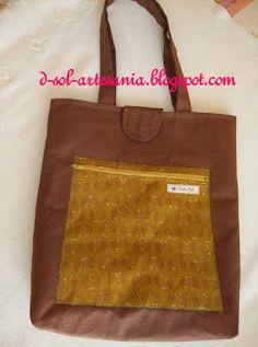 Doña Sol - Artesanía textil: Conjuntos de bolsa y neceser a juego