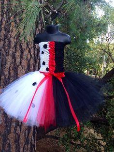 Items similar to Cruella Deville inspired tutu dress with hair clip - Disney's 101 Dalmatians - deville costume -newborn on Etsy Villain Costumes, Disney Costumes, Disney Outfits, Halloween Costumes, Halloween 2020, Halloween Diy, Tulle Dress, Dress Up, Clown Dress
