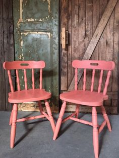 Scandinavian Pink by Annie Sloan Refinishing Furniture Diy, Refinished Chairs, Coral Painted Furniture, Modern Furniture Table, Furniture, Modern Furniture Living Room, Grey Furniture Living Room, Painted Furniture, Classic Home Furniture