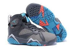 Buy New 2016 Nike Air Jordan 7 Retro GS Barcelona Days Dark Grey/Turquoise Blue Wolf Grey Total Orange Kids Shoes from Reliable New 2016 Nike Air Jordan 7 Retro GS Barcelona Days Dark Grey/Turquoise Blue Wolf Grey Total Orange Kids Shoes suppliers. Nike Kids Shoes, Jordan Shoes For Kids, Jordan Basketball Shoes, New Jordans Shoes, Michael Jordan Shoes, Nike Air Jordans, Kids Jordans, Air Jordan Shoes, Kid Shoes