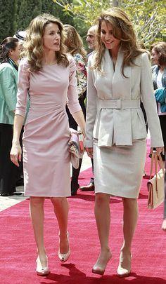 Princess Letizia  Queen Rania of Jordan... Impeccable women with impeccable style