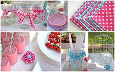 adorable aqua/pink/red birthday party ideas!