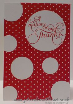 Stampin Up Circle and Million & One Real Red Card by Independent Stampin Up Demonstrator Traci Cornelius