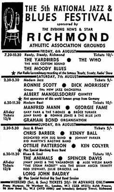 The year of Reading Festival! Before it was called Reading or even held in Reading! Jazz Festival, Festival Posters, Concert Posters, Gig Poster, Concert Tickets, Rock Posters, Band Posters, Music Posters, Mod Music