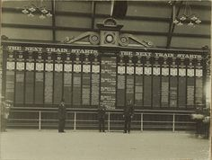 The train departures indicator board at Central Station, Sydney, pictured in was powered by rods, cranks and gears. Terra Australis, Australian Photography, Sydney City, Central Station, Old Signs, Historical Images, Sydney Australia, Old Photos, Tours