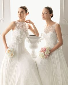 Goregous wedding gowns by Aire Barcelona