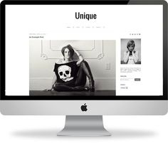 Unique Blogger Responsive Template  Instant by PinkandLolaShop, $25.00