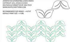 Simple Alternating Leaves Pantograph By Jessica Schick JSPANTO190