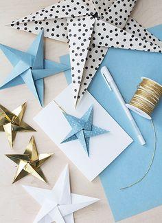Bambula: DIY   joulukortti origamikoristeella