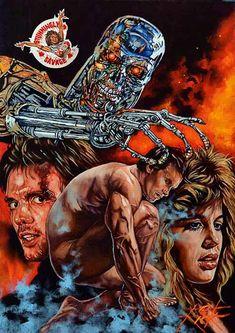 The Terminator Rick Melton Horror Movie Posters, Movie Poster Art, Film Posters, Horror Movies, Terminator 1984, Terminator Movies, Sci Fi Movies, Action Movies, Foto Top