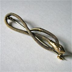Edwardian Rolled Gold Woven Serpant Snake Brooch by GraciousGood, $20.00