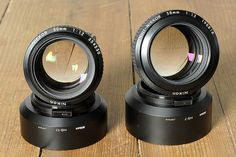 Nikkor Noct 50mm and 58mm F1.2 lenses :)