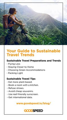 After a hectic year we are all itching to travel again, but this time we will do it right. Here is a complete guide to sustainable travel trends happening now! 🌳 🌏 / Learn more from Goodspeed's latest blog! Do It Right, Packing Light, Sustainability, Travel Inspiration, Travel Tips, Ads, Trends, Learning, Blog