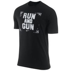Nike Run and Gun T-Shirt - Men's - Basketball - Clothing - Black