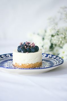 Vanilla Blueberry Cheesecake