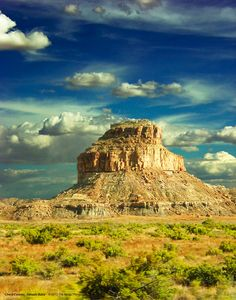 Chaco Canyon  Fahada Butte by TheKingsThings on Etsy.