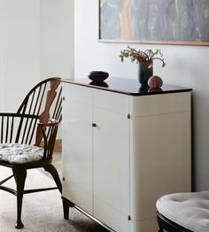 Tall cabinet or storage Canning Jars, Small Tables, Furniture Inspiration, Grey And White, House Design, Cabinet, Storage, Interior, Roman